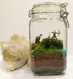 The Way to Rohan : Aragorn Legolas & Gimli Terrarium