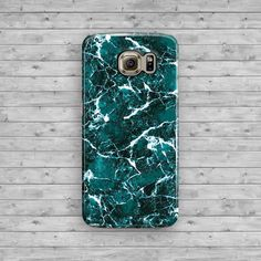 Marble Green Samsung Galaxy S7 Case White Galaxy by ByKustomKase