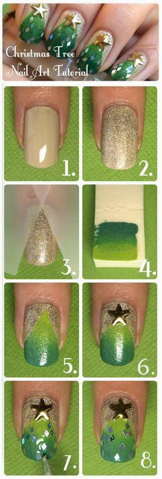 Christmas Tree Manicure Tutorial