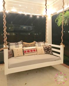 Backporch bedswing from @simplysoutherncottage