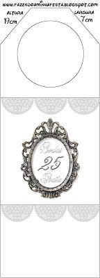 Bodas de Prata Renda Branca - Kit Completo com molduras para convites, rótulos para guloseimas, lembrancinhas e imagens!