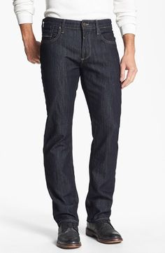 Mavi Jeans 'Zach' Straight Leg Jeans (Rinse Kensington) available at #Nordstrom