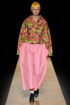 """""""The future's in two dimensions"""" Look 8 Comme des Garçons Fall 2012"""