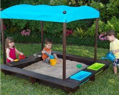 Sun Smarties Wood Sandbox with Canopy... $224.95 #bestseller
