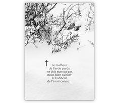 Tröstende französische Trauerkarte: Le malheur de l'avoir perdu... - http://www.1agrusskarten.de/shop/trostende-franzosische-trauerkarte-le-malheur-de-lavoir-perdu/    00012_0_2062, Beerdigung, Beileid, Beistands Karten, Französisch, Grußkarte, Helga Bühler, Klappkarte, Kondolenzkarte, kondolieren, Tod, Trauer, Trauerkarte, Trost Karten00012_0_2062, Beerdigung, Beileid, Beistands Karten, Französisch, Grußkarte, Helga Bühler, Klappkarte, Kondolenzkarte, kondolieren,