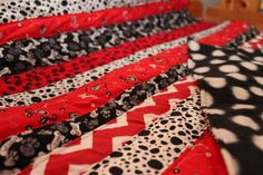 Georgia Bulldogs Strip Quilt  Tailgate Blanket by StitchesByNicole, $65.00