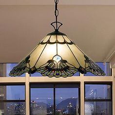 Shop for Tiffany-style Warehouse of Tiffany Courtesan Hanging Lamp. Get free delivery On EVERYTHING* Overstock - Your Online Ceiling Lighting Store! Get in rewards with Club O! Bronze Floor Lamp, Lampshade Designs, Victorian Design, Room Lamp, Desk Lamp, Tiffany Lamps, Handmade Home Decor, Glass Design, Glass Shades