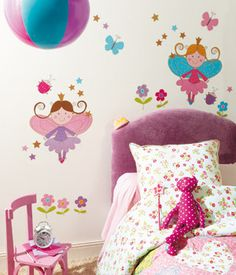 Caselio, vinilos infantiles para la pared con las pegatinas Wall Murals, Wall Art, Decoration, Fairy Tales, Toddler Bed, Baby Shower, Wallpaper, Children, Furniture