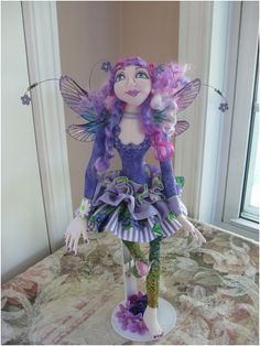 February Flower Fairy  Violet by bohobutterflydolls on Etsy - Created by Bonnie Jasen
