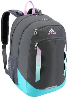 Easily go from class to practice with this adidas backpack. Adidas School Backpack, Addidas Backpack, Backpack Outfit, Backpack Bags, Messenger Bags, Stylish School Bags, School Bags For Girls, Cute Backpacks For School, Boys Backpacks
