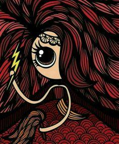 Olha eu bela Oyá! Oya Goddess, Goddess Warrior, Warrior Queen, Orisha, Yoruba Religion, Catholic Saints, Graffiti Art, Spiderman, Arts And Crafts