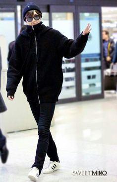 2015-1-28 at Inheon Airport from Hong Kong | Lee Min Ho