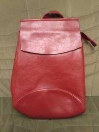 Women Oil PU Leather Simple Big Capacity Simple Backpack Shoulders Bag  Images - Banggood 2e5797f41e075