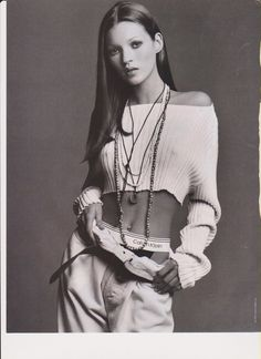 Kate Moss vintage ad CALVIN KLEIN UNDERWEAR 1993 JEANS ADVERTISEMENT PRINT