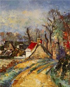 The Turn in the Road at Auvers - Paul Cezanne