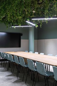 A Tour of MOW Supernova's Retro-Futuristic Coworking Space in Tampere Meeting room- mow supernova Basement Office, Loft Office, Office Meeting, Small Office, Meeting Rooms, Meeting Room Tables, Office Open Plan, Desk Office, Coworking Space