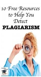 Blog post with #teacher tips and helpful resources for combating #plagiarism