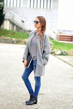 stellawantstodie. coat: Pimkie , tee & jeans: old, shoes: Stradivarius, necklace: Zara, sunglasses: Tommy Hilfiger