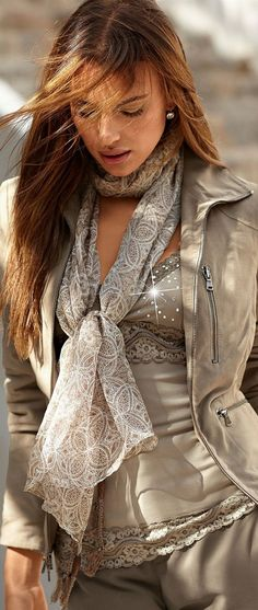 Perfect outfit--jacket,scarf