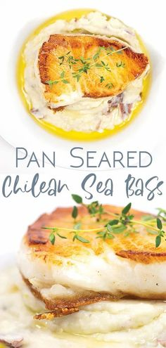 """With this pan seared Chilean sea bass you can whip up one of those """"wow"""" meals right in the comfort of your own home. #seabass #pansearedfish #valentinesdinner #dinnerfor2 #fishdinner #easydinner #easyfishdinner #fancydinnner #romanticdinner Best Seafood Recipes, Fish Recipes, Lunch Recipes, Chilean Sea Bass Recipe Pan Seared, Fish Dinner, Dinner For 2, Kidney Friendly Foods, Chilean Recipes, Easy Asian Recipes"""