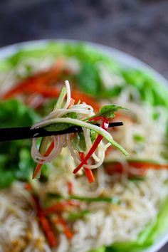 Refreshing Rice Noodle Salad, Lime Ginger Dressing