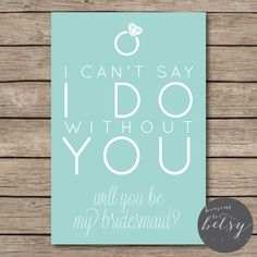 Will You Be My Bridesmaid? // printable card to ask your bridesmaids to be in your wedding!