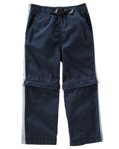 7d0a376681d7 Kid Boy Zip-Off Convertible Canvas Pants