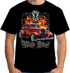 Velocitee Mens Vest Hot Rod Garage Rat Rockabilly 32 Ford 3 Window Blown W17681