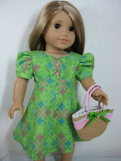 18 Inch Doll Clothes American Girl Green and Pink by nayasdesigns, $26.00