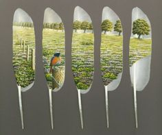 Swan feather series by Ian Davey - he just started painting in 2005!