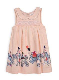 Pumpkin Patch Girl's Circus Border Print Dress