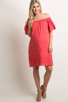 14b7cd03106 PinkBlush - Maternity Clothes For The Modern Mother Off Shoulder Maternity  Dress