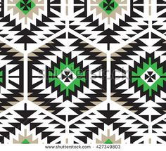 Seamless Vector Tribal Pattern for Textile Design. Stylish Aztec Background. Mix of Stripes and Triangles