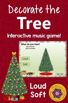 Elementary music melody game perfect for December and around Christmas! Your classes will love the interactive game while reviewing dynamics (loud soft)! Engaging kindergarten or first grade lesson and activity.