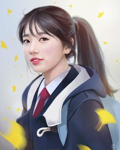 여 Ulzzang, F4 Boys Over Flowers, Miss A Suzy, Korean Painting, Bae Suzy, Sketch Inspiration, Painting Inspiration, Kpop Fanart, Anime Art Girl