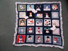'Snowman Challenge' crochet blanket