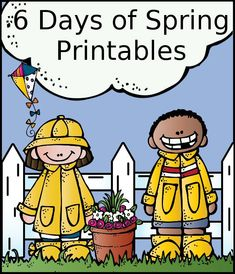 6 Fun Days of Spring Themed Printables - 6 free printables with a spring theme with different levels - 3Dinosaurs.com