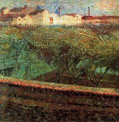 April Evening, 1908 Umberto Boccioni
