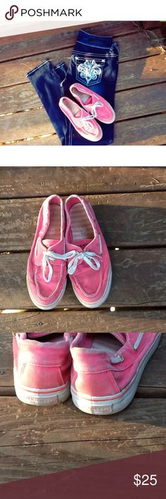Sperry Top-Slider. Pink Sperry Top Sliders. Pre-Loved . Great shoes for casual wear or even working a long shift. Comfortable Shoes. Lambskin lining for ultra-soft feel. Non-Rubber Sole. These have been worn as shown in pictures, but they still have a lot of love in them. Size:7 Womens No Trades. No Holds. ✅Reasonable Offers Accepted. Sperry Shoes Flats & Loafers