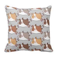 Cute little guinea-pigs leaping on a grey background. http://www.zazzle.com/leaping_guinea_pig_throw_pillow-189501513179644663?rf=238205274887202706