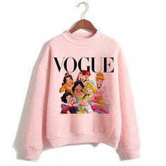 Funny Princess VOGUE pink hoodie hip hop women stree twear female clothes sweatshirts Pullovers cartoon Casual harajuku - 5618 / XXL
