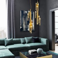 Shiro modern light fixtures for contemporary interior design projects. Our exclusive designer lighting for unique high end projects and homes Luxury Lighting, Cool Lighting, Interior Lighting, Lighting Ideas, Small Space Interior Design, Contemporary Interior Design, Modern Light Fixtures, Living Room Lighting, Modern Chandelier