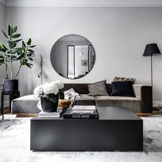 Mood: Monochrome🖤 Monochrome is a design trend where a space is decorated in different shades of one colour, with black and white being a popular colour scheme chosen for this type of interior design. Living Room Mirrors, Living Room Decor, Living Room Designs, Living Spaces, Living Room Goals, Piece A Vivre, Scandinavian Home, Dream Rooms, Kate Moss