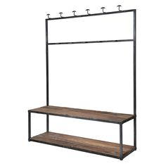 I've just found Industrial Metal And Wood Hall Bench And Coat Rack. The Industrial Metal and Wood Hall Bench and Coat Rack is the perfect storage solution for the hallway. Industrial Metal, Industrial Style, Coat And Shoe Rack, Bench Coats, Brown Leather Armchair, Hallway Bench, Hat Storage, Changing Room, Reclaimed Timber