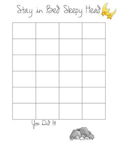 do it yourself divas: DIY: Goal/Sticker Chart to Help My Kid Stay in Bed