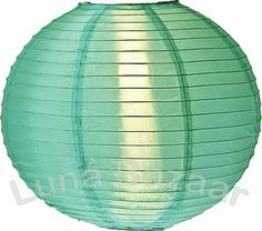Aqua nylon lantern. Great for weddings, deck decor, beach-themed room
