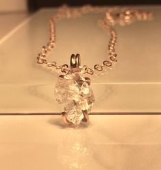 A personal favorite from my Etsy shop https://www.etsy.com/listing/248829332/raw-herkimer-diamond-gold-necklace-raw
