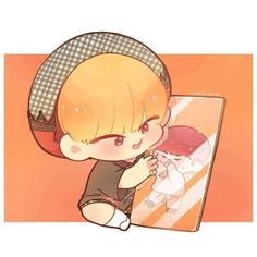 Seventeen Woozi, Carat Seventeen, Cartoon Fan, Kpop Drawings, 22 November, Meanie, Kawaii, T Art, Kpop Fanart