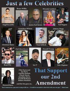 Celebs who support 2nd Amendment
