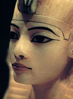 Alabaster King Tut, canopic jar (detail), found in Tut's tomb, Egypt